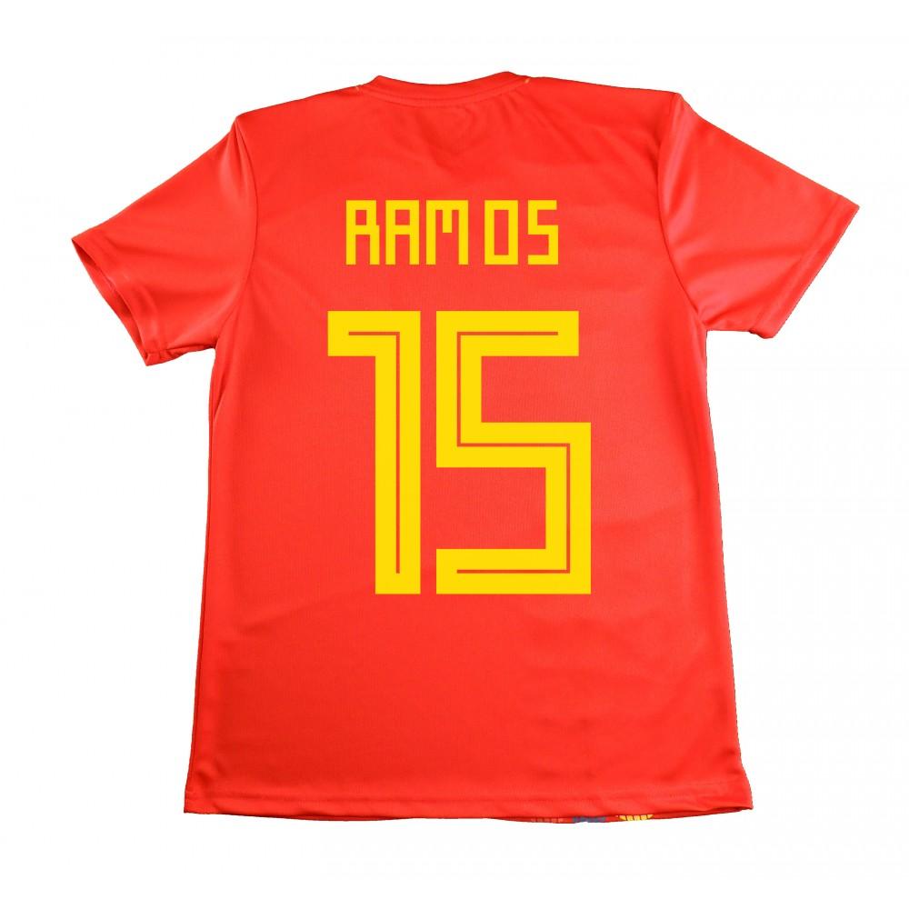 28a0c6c8a8ade Camiseta Sergio Ramos. Réplica Oficial de la Seleccion Española en el  mundial 2018. Esta camiseta es tamaño para adulto. Este producto es una  Réplica ...