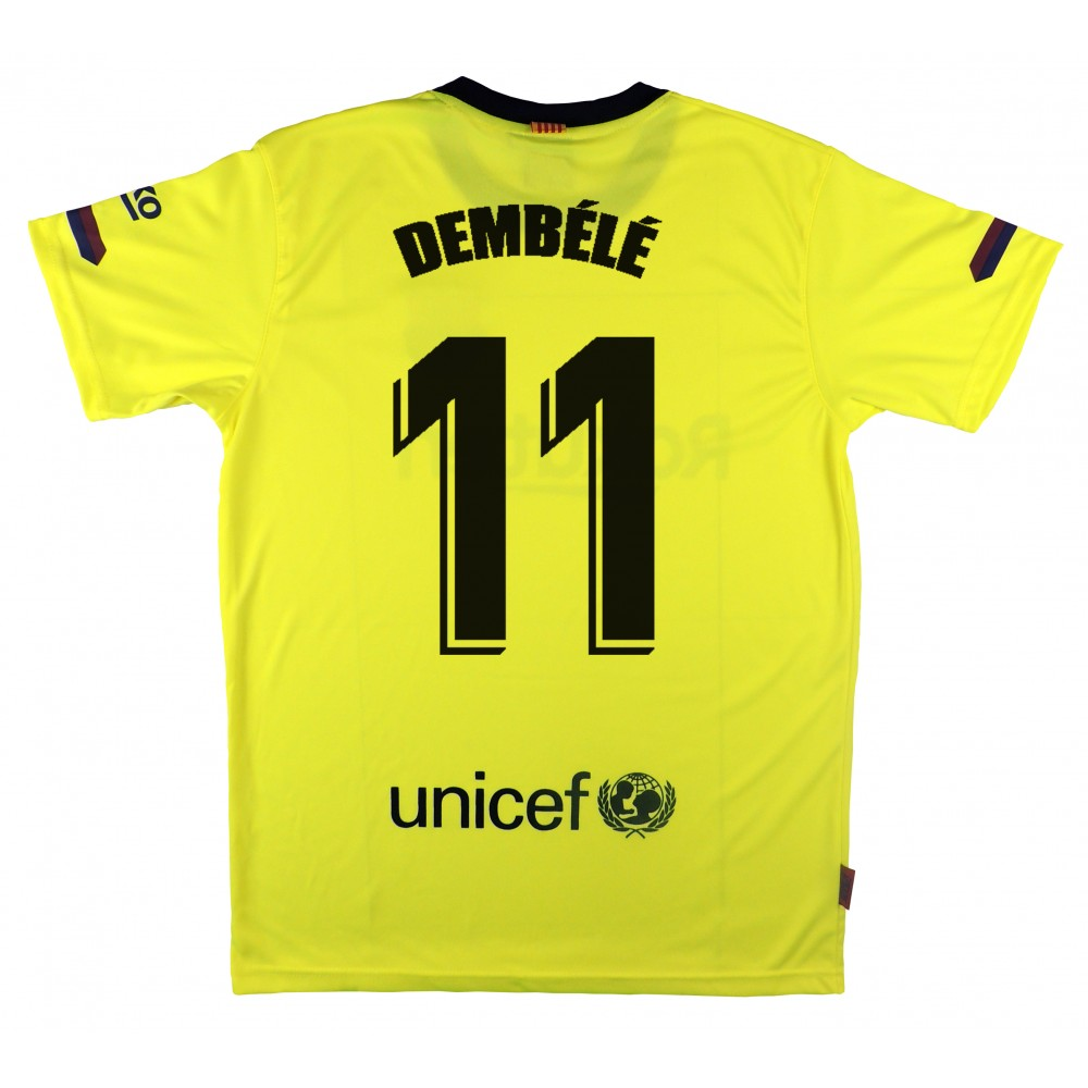 Camiseta Segunda Equipación Réplica Oficial del F.C. Barcelona Temporada  2018-2019. Esta camiseta es tamaño para adulto. Este producto es una Réplica  ... f70cfd9853c