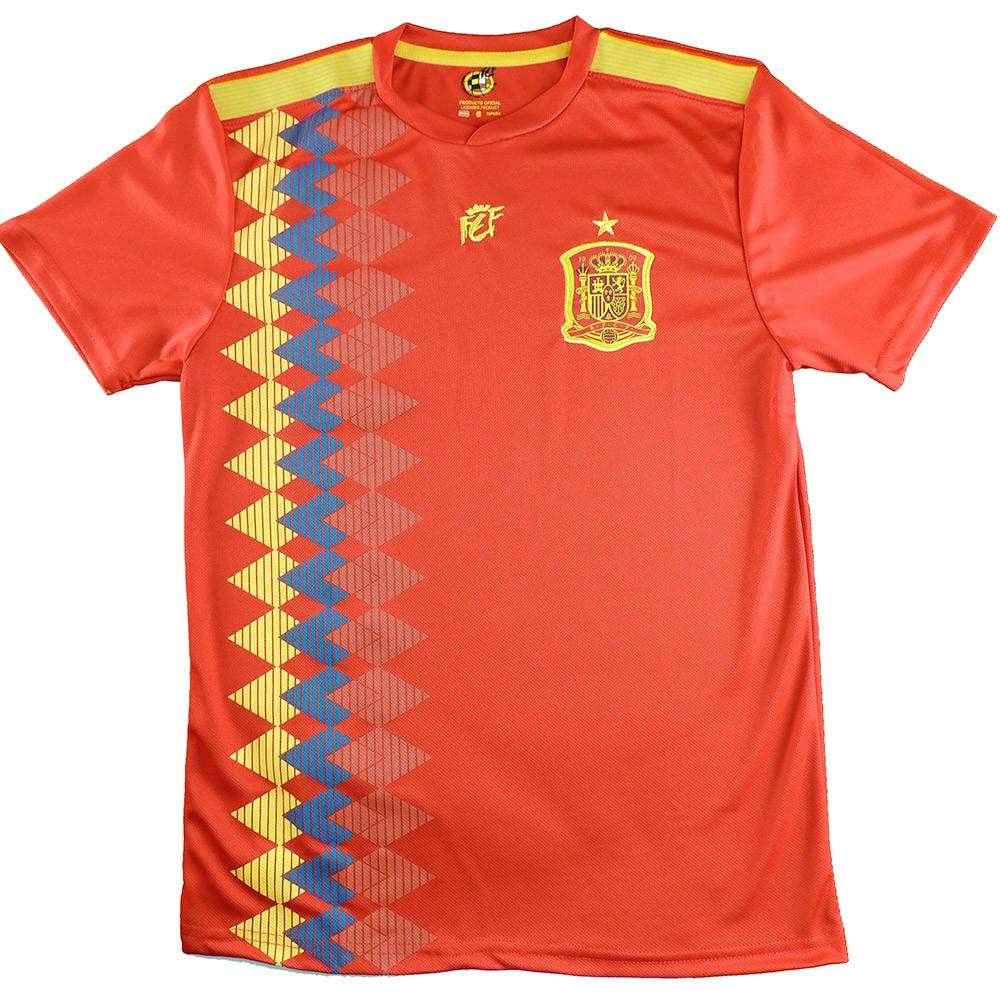 9450a2197365a Camiseta Réplica Oficial de la Seleccion Española en el mundial 2018. Esta  camiseta es tamaño para adulto. Este producto es una Réplica Oficial o  Producto ...