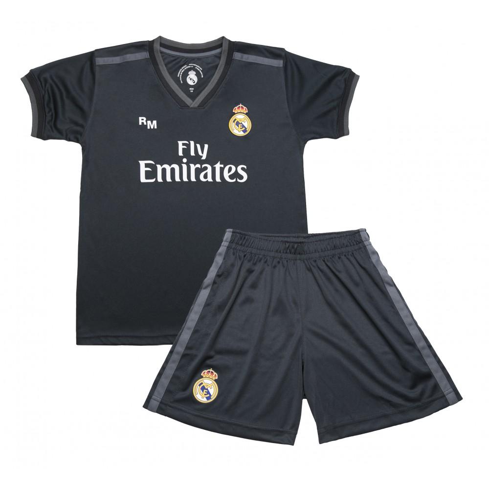 Segunda Equipación Réplica Oficial del Real Madrid 2018-19. Está compuesta  por la camiseta y los pantalones. Este producto es una Réplica Oficial o  Producto ... fddab6eaed7