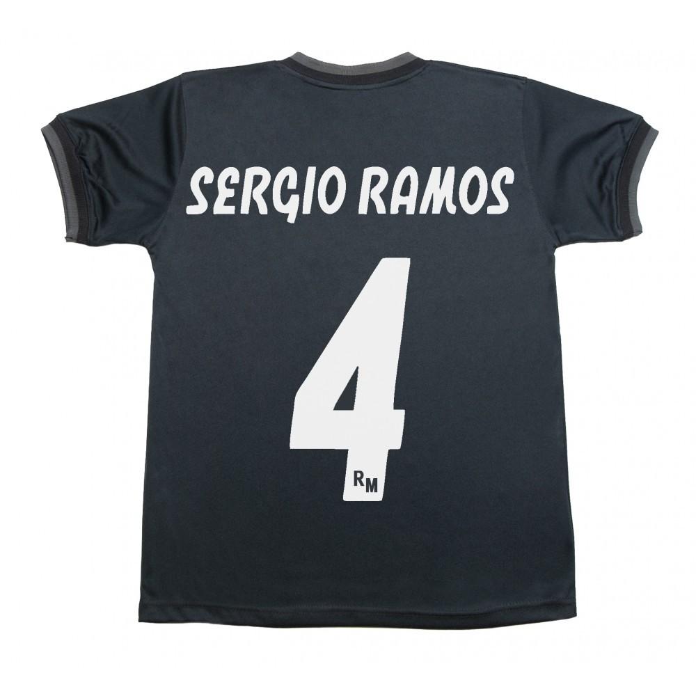 Camiseta Segunda Equipación Sergio Ramos Réplica Oficial del Real Madrid  2018-2019. Esta camiseta es tamaño para adulto. Este producto es una  Réplica ... a71cf97a8260e