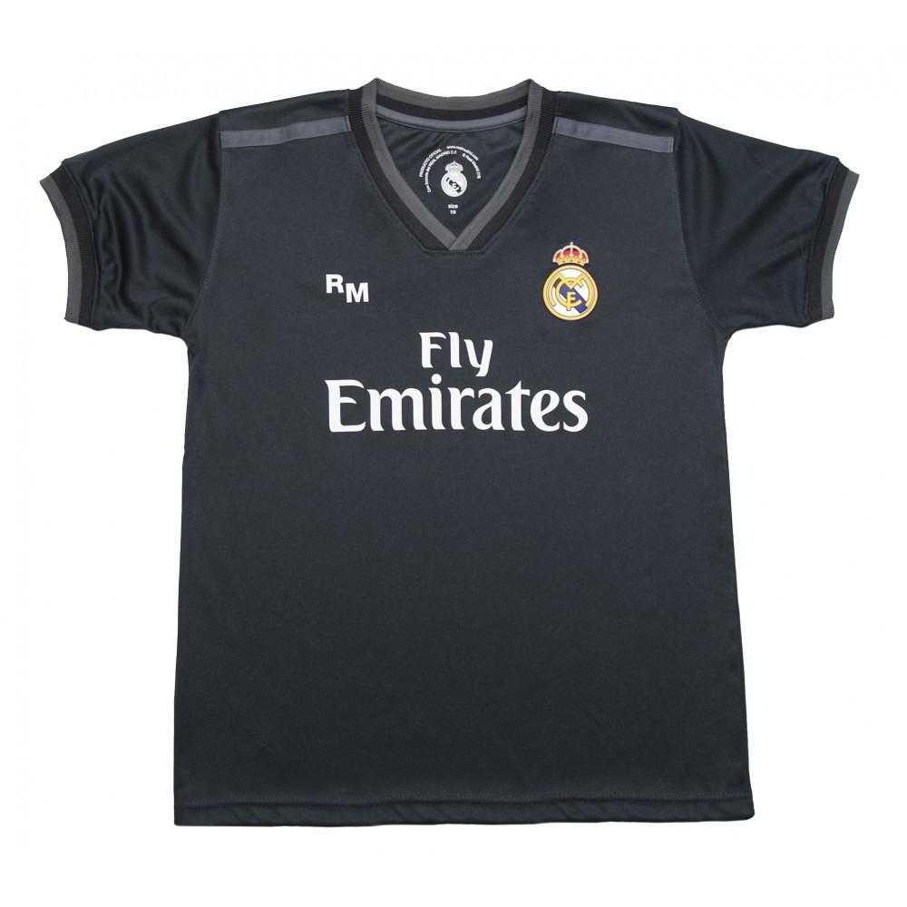 196f9c2772a34 Camiseta Segunda Equipación Réplica Oficial del Real Madrid 2018-2019. Esta  camiseta es tamaño para adulto. Este producto es una Réplica Oficial o  Producto ...