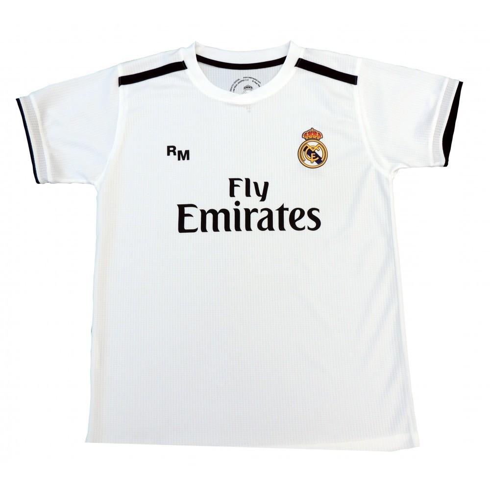 ca2ecbe09 Camiseta Primera Equipación Réplica Oficial del Real Madrid Temporada 2018-2019.  Esta camiseta es tamaño para adulto. Este producto es una Réplica Oficial o  ...