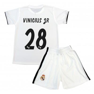 Kit Vinicius Junior Producto Oficial Licenciado. Conjunto Infantil Primera  Equipación Temporada 2018-2019. 50a53af785736