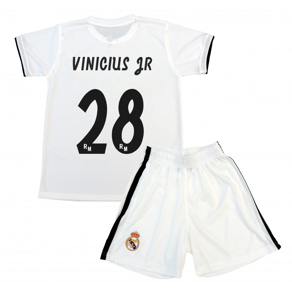Réplica Oficial de la Primera Equipación Vinicius del Real Madrid Temporada  2018-19. Compuesta por camiseta y pantalón. Este producto es una Réplica  Oficial ... 4481d31378fae